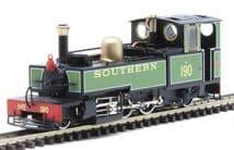"HELJAN 9963 OO-9 SCALE Lynton & Barnstaple 2-6-2T 190 ""Lyd"" SR Green"